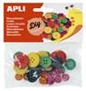 Obrázek Dřevěné knoflíky APLI / mix barev / 30 ks